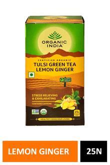 Organic India Tulsi Green Tea Lemon Ginger 25n