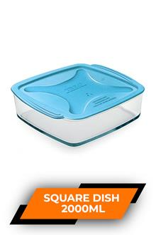 Treo Square Dish With Microwavable Lid 2000ml