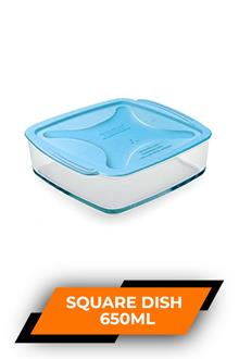 Treo Square With Microwavable Lid 650ml