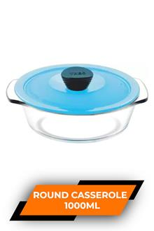 Treo Round Casserole With Microwavable Lid 1000ml