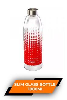 Nayasa Round Slim Glass Bottle 1000ml