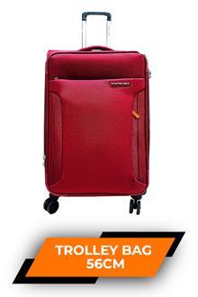 Kam Vega Clay Red Trolley Bag 56cm