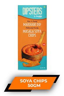 Dipsters Makhani Dip Masala Soya Chips 50gm