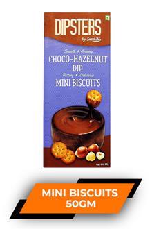 Dipsters ChocO-Hazelnut Dip Mini Biscuits 50gm