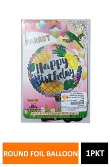 Hb Happy Birthday Round Foil Balloon