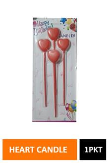 Hb Heart Candle 4pc