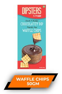 Dipsters Chocolatey Dip Waffle Chips 50gm