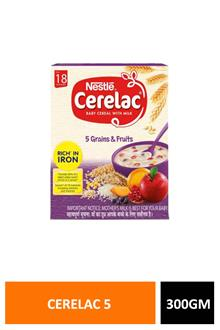 Cerelac 5 Grains & Fruit 300gm