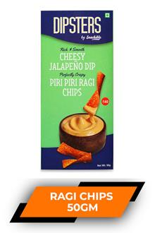 Dipsters Chessy Jalapeno Dip Ragi Chips 50gm