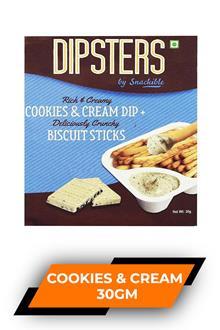 Dipsters Cookies & Cream Dip+ 30gm