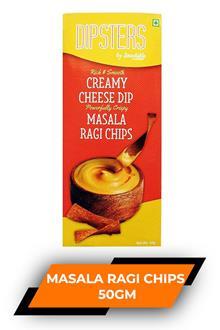 Dipsters Creamy Cheese Dip Masala Ragi Chips 50gm
