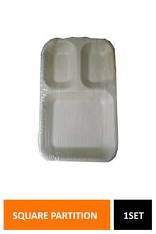 Tamul Square Partition Plate 11x7