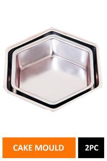 Cake Mould Hexagon Set Of 2