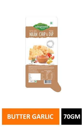 Naan Chips & Dip Butter Garlic 70gm