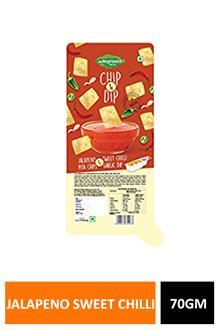 Naan Chips & Dip Jalapeno Sweet Chilli 70gm