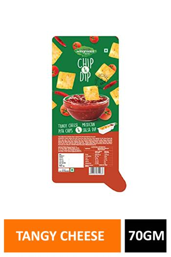 Naan Chips & Dip Tangy Cheese Mexican 70gm