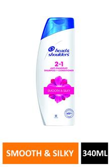 H&s 2in1 Smooth & Silky 340ml
