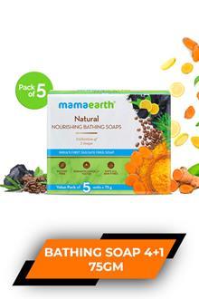 Mamaearth Natural Bathing Soap 4+1 75gm