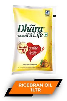 Dhara Ricebran Oil 1ltr