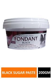 Blossom Fondant Black Sugar Paste 200gm