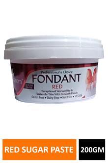 Blossom Fondant Red Sugar Paste 200gm