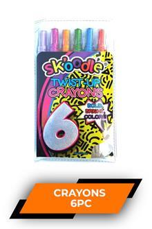 Skoodle 6 Twist Up Crayons Sk10392