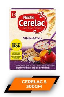 Cerelac 5 Grains & Fruit 300gm