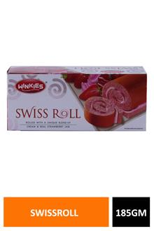 Winkies Swissroll Strawberry 185gm