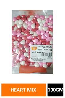 Cake Deco Heart Mix Colour 100gm