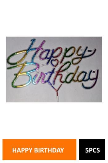 Cake Deco Happy Birthday 5pcs