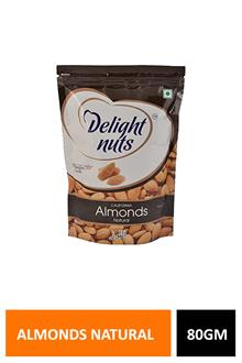 D Nuts Almonds Natural 80gm