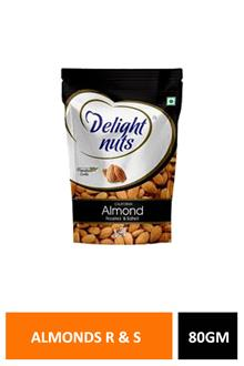 D Nuts Almonds R & Salted 80gm