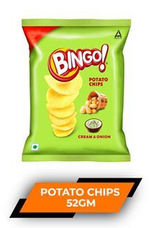 Bingo Potato Chips C & Onion 52gm