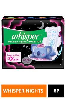 Whisper Nights Koala Soft Xxxl+ 8pads
