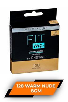Loreal Fit Me 128 Warm Nude 8gm