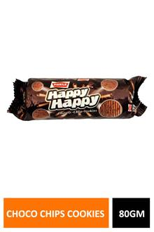 Parle Happy Choco Chips Cookies 80gm