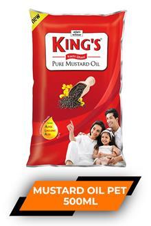 Kings Kachi Ghani Mustard Oil Pet 500ml