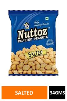 Nuttoz Salted Peanuts 34gm