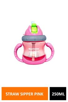 Morison Handy Straw Sipper Pink 250ml