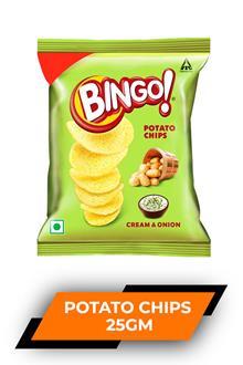Bingo Potato Chips C & Onion 25gm
