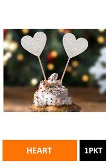 Sig Cake Topper Glitter Heart 2168b