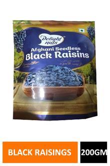 Delight Nuts Afghani Black Raisins 200gm