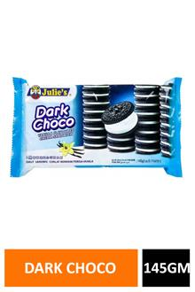 Julies Dark Choco Vanilla Sandwich 145gm