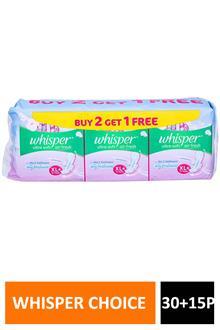 Whisper Ultra Soft Xl+ 30p+15p(free)